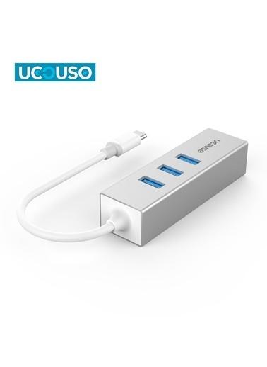 Mcstorey Ucouso Usb-c to Ethernet 3XUsb3.0 Typ-c Hub MacBook A1534 A1706 A1708 A1707 A1989 A1990 1300 Gümüş